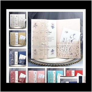 Personalized Wedding Invitation Cards Full Set Laser Cut Hollowed-Out Pocket Greeting Cards For Engagement Birthday Party Wedding Qr9F Jvrnm