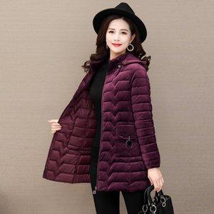 Automne hiver Gold Velvet Down Coton Veste Femme Coréenne Parkas Coton Veste rembourrée Dames Outwear Plus Taille 6XL R512 Pantalon 42