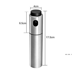 Silver Stainless Steel Oil Sprayer Tool Olive Pump Spraying Bottle Can Jar Pot easy to use EWD5600