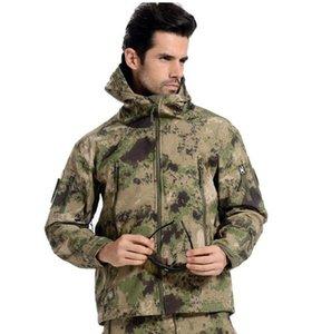 Мужские куртки Тактическая куртка Водонепроницаемый Флис Охотничий костюм Камуфляж Военные виды спорта