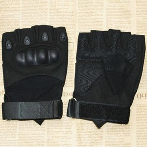 Tactical half finger protective gloves for mountaineering cycling men's fans outdoor camping in spring and summer