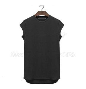 Broadcloth Brand Clothing Fitness T Shirt Men Fashion Extend Long Tshirt Summer Gyms Short Sleeve T-shirt Cotton Bodybuilding Crossfit Tops