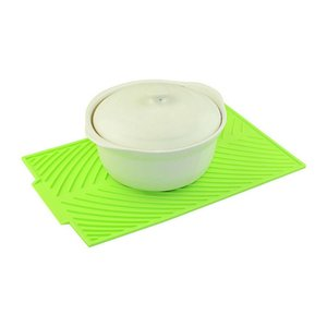 Table Runner 1PCS Silicone Placemat Heat Resistant Drying MatDish Drain Pad Cup Dinnerware Mat Tableware Dishwasher Kitchen