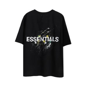 2021 Fear Of God Fog Essentials Double Sided Print T Shirt Leisure Tee Shirts Letters Fashion Trends Tshirt Mens Womens Designers Short Sleeve
