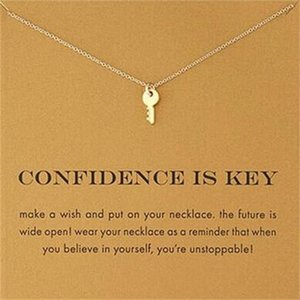 New Dogeared Necklaces With card Gold Elephant Heart Key Clover Horseshoe Triangle Charm Pendant Necklace women Fashion Jewelry Gift 152 R2