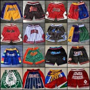 Vôo masculino Black apenas Don Basquete Shorts Air Est 1986 Hip-hop esporte desgaste zíper pant com bolso autêntico malha costura de moletom