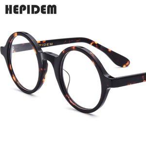 Acetate Optical Eyeglasses Frame Men New Retro Vintage Round Eye Glasses Women Spectacles Man Woman Optical Nerd Eyewear Zolman 210323