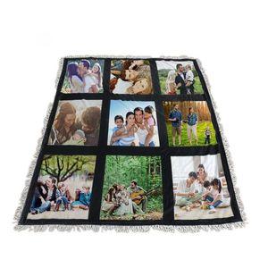 Mais barato! Sublimação cobertores brancos em branco para sublimação Tapete quadrado cobertores para sublimatizar tapete de impressão de transferência Theramal