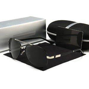ارتفاع الرجال الصيف نمط مستطيل كامل الإطار الكامل أعلى جودة uv حماية مع مربع نظارات شمسية النظارات الاستقطاب 618