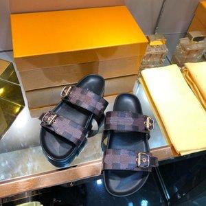 Fashion Women Love Sandals Womens Platform Gingham Slippers Brown Purple Black Pink Girls Beach Slides