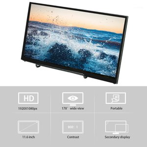 Monitor portátil 11.6 pulgadas IPS HD Monitor Touchscreen 1920 * 1080P USB HD Potencia compatible con Raspberry Pi NVIDIA Windows PC1