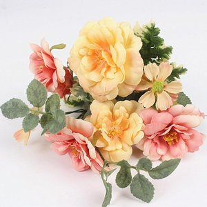 Искусственная живопись маслом цветок шелковые цветы декоративные растения столик договориться для свадьбы дома украшения венков