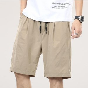 Men's Shorts W6864 Quick Dry Nylon For Men Summer Thin Breathable Anti-Pilling Casual Loose Solid Color Drawstring Knee Length Pants