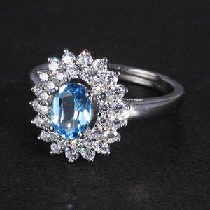 Cluster Rings D 925 Silver For Women Oval Topaz Signet Ring Woman Gemstone Handmade Vintage Resizable Opening Type Custom