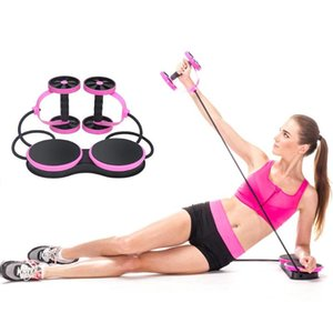 Ab Roller Wheel With Mat Abdominal Trainer Arm Waist Leg Exercise Multi-functional Resistance Pull Rope Fitness Equipment Training