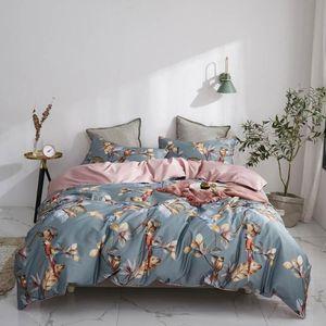 Bedding Sets Svetanya Birds Leaves Flowers Bedlinens Silkly Egyptian Cotton Set Queen King Size Sheet Duvet Cover Home Textile