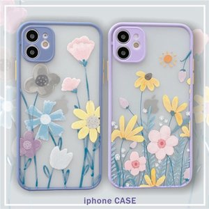 Flower Bliss Phone Cases For iPhone 12 11 Pro MAX XS XR 8 7 6 Plus SE 2 Camera Protection Shockproof Case Cover