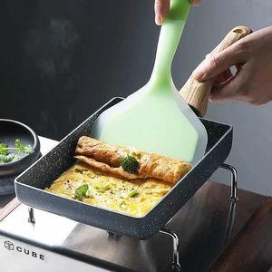 Pans Frying Pan Tamagoyaki Omelette Non-stick Fry Egg Pancake Steak Ham Wooden Handle Non Stick For Home Kitchen Cooking