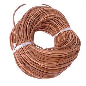 3 ملليمتر 10 متر اللون الطبيعي الحقيقي جلد طبيعي الحبل جولة حبل سلسلة ل diy قلادة سوار مجوهرات الحبل ضياء 3 ملليمتر