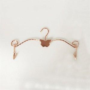 Moda farfalla in metallo reggiseno vestiti appendiabiti contorti linee biancheria intima biancheria intima stendibiancheria con abbigliamento perni 28 cm 243 V2