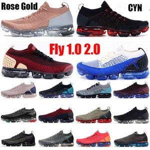 2021 Knit 2.0 Triple Black White CNY Rose Gold Orca Fly 1.0 Correndo Sapatos Pure Platinum Difusão Taupe Jacket Pack Sneakers