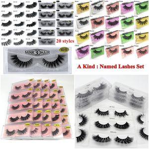 3D Mink Eyelash Eyelash Maquiagem de Olho Make Mink Falso Cílios Soft Natural Espesso Eyelashes Falsoso Lashes Extensão Ferramentas de Beleza 20 Estilos DHL GRÁTIS