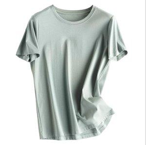 Ey69622021 Сплошные черные футболки белые мужские женские мода мужские повседневные футболки мужские одежды уличные шорты рукав 21ss одежда