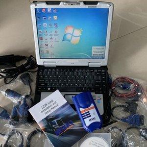Truck Diagnostic Scanner Tool 125032 NEXIQ Interface USB Link Diesel Diagnosticar com Todos os Instaladores Laptop CF30 Toughbook Touch Screen Ram 4G