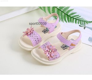 Summer Children Leather Kids Shoes For Girls Flower Sandals Fashion soft bottom Sneakers