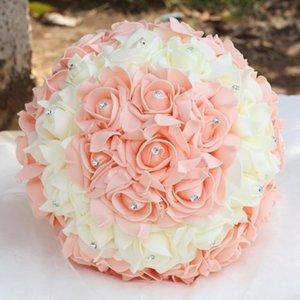 Wedding Flowers European Supplies Foam Rose Bride Bouquet Simulation PE Handmade Diamond Toss FZ51