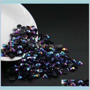 Black Blue Jet Ab Crystal Faceted Resin Rhinestones, Ss12 Ss16 Ss20 Ss30 Resin Flatback Rhinestones, All Size Resin Rhinestones Ixryi Jpom5