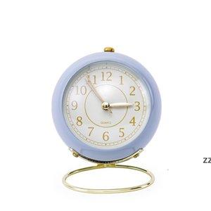 European metal student clock creative mute children's electronic alarm clock simple living room bedroom Home Decor HWB10405