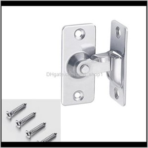 Stainless Steel 90 Degree Right Angle Buckle Hook Lock Bolt,For Sliding Door,Mini But Strong,Surface Mounting,Hardware Locks 201013 U4 5W2Qv