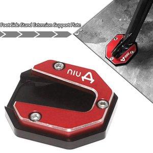 Other Motorcycle Parts For NIU U1 U+ N1S US U1C U1B UQI N-GT U+B Accessories Kickstand Extension Plate Foot Side Bracket Stand Enlarge Pad