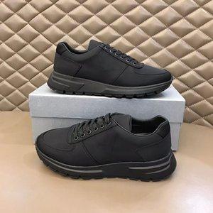 2021 Homens Prax 01 Sneakers Re-Nylon Gabardine Tecido Lace-Up Sapatos Planos Preto Branco Treinadores de Pano Top Quality Malha Nylon Casual Runner Shoe 276
