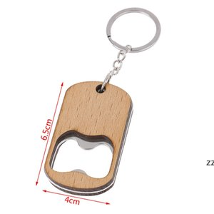 Wooden Bottle Opener Key Chain Wood Unique Creative Gift Can Opener Kitchen Tool Wood Unique Creative Gift HWD10540