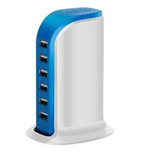 30 W Çok 6 Port USB Şarj 6A Hızlı Şarj İstasyonu Cep Telefonu Masaüstü Seyahat Hub Konnektörleri Uzatma Soket Platooninsert