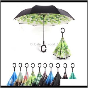 90 Styles Reverse Umbrella Double Layer Inverted Umbrella With C Handle Windproof Rain Car Inverted Umbrellas For Women Men 2Kyws A63Wz