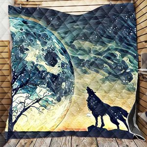 Comforters & Sets Wolf Sukll Blanket 3D Cartoon Custom Microfiber Soft Winter Warm Quilts Office Nap Sofa Bedding