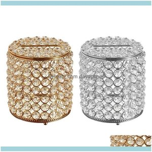 Table Aessories Kitchen, Dining Bar Gardenroll Paper Tissue Box Round Napkin Holder For El Office Home Car Crystal Decoration Decor Boxes &