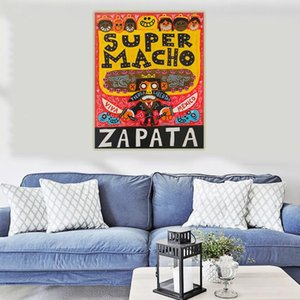 """Paintings Holover Canvas Oil Painting Jorge Gutierrez""""Super Macho""""American Art Mexican Folklore Aesthetic Home Interior Decoration"""