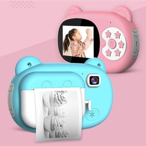 Digital Cameras Instant Print HD 1080P Children Camera Dual Lens Cartoon Selfie For Christmas Birthday Gift With 3 Paper