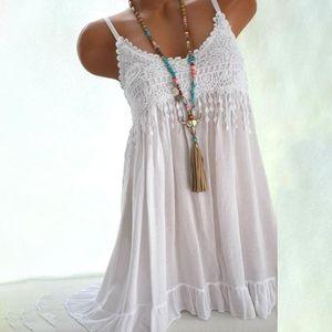 Sommer Frauen Kurze Kleid Backless Strand Spitze Mini Damen Sexy Strap O Hals gefaltete Vestidos plus Größe 5XL 6 Farbe Casual Kleider