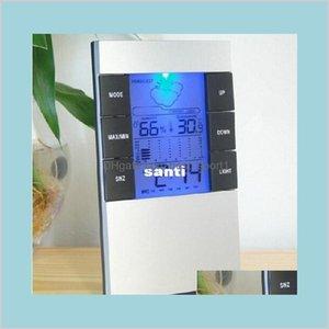 Office School Business Industrial Medición Análisis Instrumentos Temporizadores LCD Hogar Electrónico Digital Temperatura y Humedad ME BXMGW