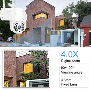 1080P Outdoor PTZ Wireless IP Camera 4X Digital Zoom Speed Dome Mini WiFi Security CCTV Audio Ai Humanoid Detection