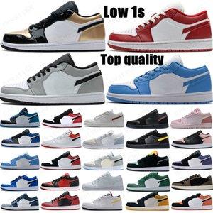 2021 Jumpman Low 1 1s basketball shoes top OG black toe court purple SP Travis Scotts men women sneakers Eur 36-46 without box