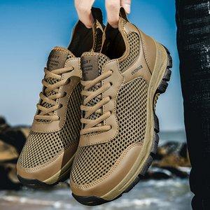 Hombres Zapato tamaño grande verano al aire libre COMFORT CONFORT CONFORTIDO ANTULLIMIENTO APROBLE TRANSPIO A prueba de golpes Desgaste resistente Zapatos de gimnasio ocasionales