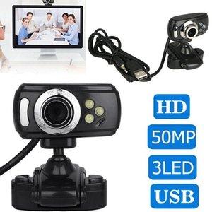 Webcams HD Webcam With Mic Night Vision Megapixel Web Camera Clip Holder For Computer PC Laptop Desktop USB 2.0 High Definition