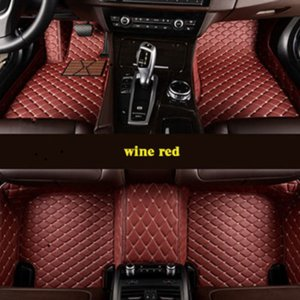 leather Car floor mats for Jeep Wrangler Custom auto foot Pads automobile