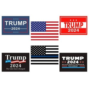 6pcs set Donald John Trump 2024 US Election Car Stickers Accessories The American National Flag Letters Printed Paster Sticker G338ETW